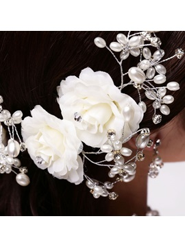 Beading Flower Wedding Hair Flowers