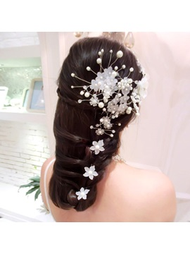 Exquisite Pearl Small Flower Headwear (For One Piece)
