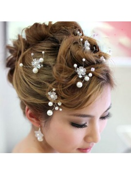 Luxurious Wedding Accessories Handwork Pearl Bride Hairpin