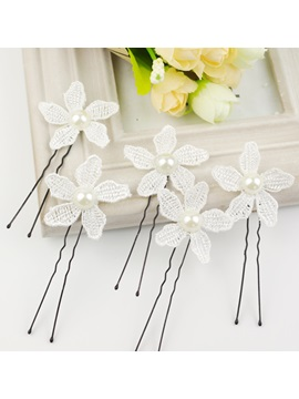 Luxurious Wedding Accessories Pearl Flower Bride Hairpin