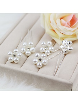 Luxurious Pearl Flower Wedding Accessories Hairpin