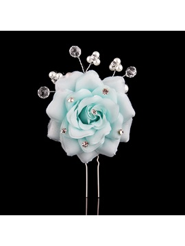 Flowers Crystal&Pearls Bride Bridesmaid Wedding/Evening Hair Flower