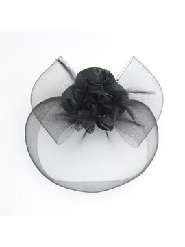 Remarkable Black Gauze Hair Flowers