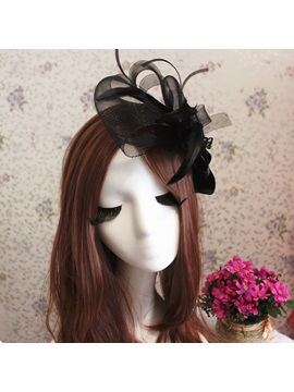 Eye-catching Black Feather Bride Hair Flower