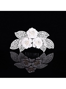 Fine Three Flowers Alloy with Rhinestone Wedding Tiara