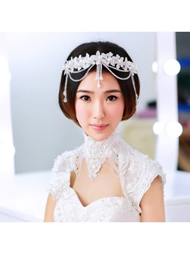 Lace Flower Crystal Bridal Headband