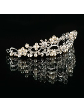 Pearls and Alloy Wedding Tiara