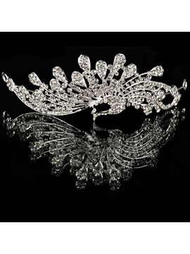 Charming Crystal Clear Rhinestone Wedding Headpiece