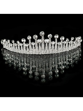 Rhinestone Embellishing Alloy Wedding Tiara
