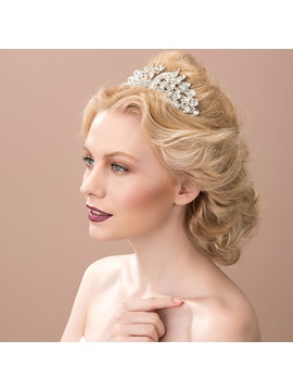 Charming Rhinestone Alloy Wedding Tiara