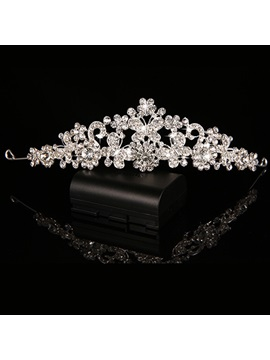 Exquisite Pearls Rhinestone Wedding Tiara