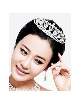Shiny Round Rhinestone Wedding Tiara