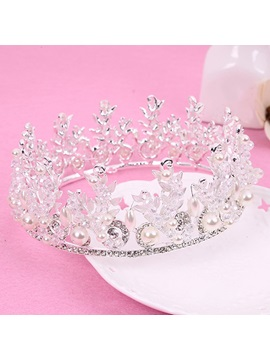 Beautiful Alloy Leaves Rhinestones Wedding Tiara