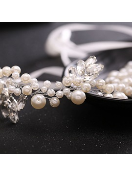 Rhinestone and Pearls Embellished Wedding Tiara