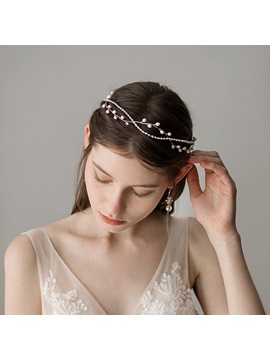 Pearl Inlaid Hairband Spherical Hair Accessories (Wedding)