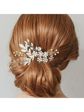 Leaf Hair Comb E-Plating Hair Accessories (Wedding)
