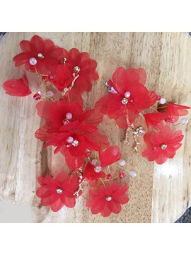 Floral Korean Barrette Hair Accessories (Wedding)