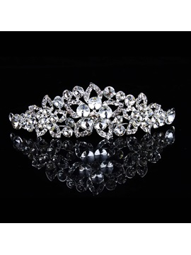 Luxurious Alloy with Rhinestone Wedding Bridal Tiara