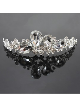 Classical Butterfly Shaped Alloy with Cute Rhinestone Wedding Tiaras