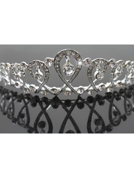Pretty Alloy with Cute Rhinestone Wedding Tiaras