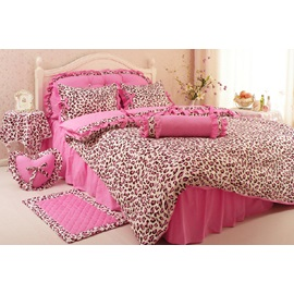Nice Pink Cotton 4-Piece Bedding Set