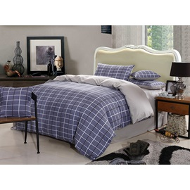 Plaid Pattern 4 Piece Bedding Sets