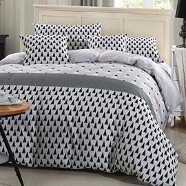 Plain Pattern 4 Piece Bedding Sets
