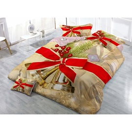 Christmas Jingle Bell 4 Piece Bedding Sets