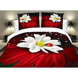 Ladybird and Flower Image 4 Piece Bedding Sets