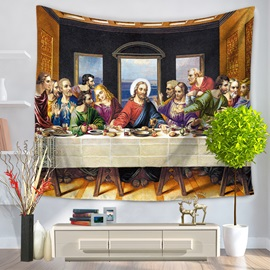 The Last Supper and Jesus Pattern Decorative Hanging Wall Tapestry