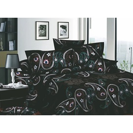 Wonderful Unique Pattern Printed 4 Piece Comforter Sets with Cotton