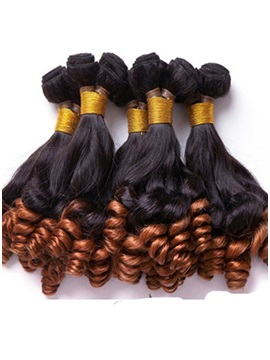 Human Hair Curly Weave 3 PCS 14 Inches