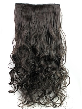 2#HT Long Wave One Piece Synthetic Clip In Hair Extension 24 Inches