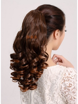 Long Natural Curly Synthetic Ponytail