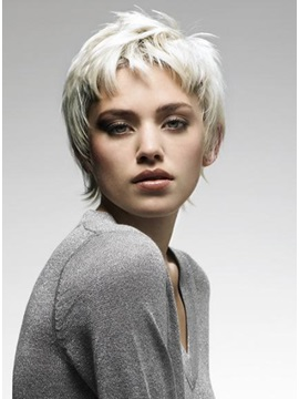 High Quality Stylish Cheap Short Layered Straight Wig for Young Lady 6Inches