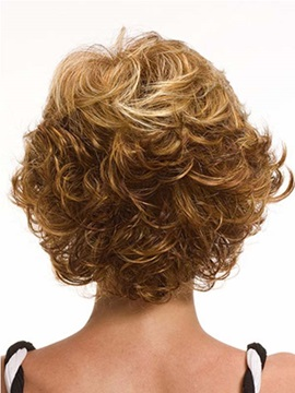 Short Curly Capless Synthetic Wig 8 Inches
