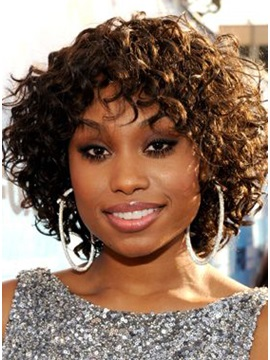 Hot Sale Medium Curly Synthetic Hair Wig 12 Inches
