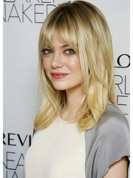 Lovely Medium Length EMMA STONE Hairstyles Women
