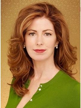 Custom Dana Delany's Hairstyle Long Curly Lace Front Wig about 18 Inches