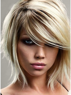 Latest Trend Short Hairstyle Unique Soft Natural Synthetic Hair Wig 10Inches