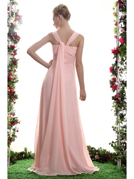 Elegant A-Line Spaghetti Straps Floor-Length Bridesmaid Dress
