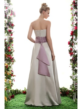 New A-Line Strapless Floor Length Yana's Bridesmaid Dress