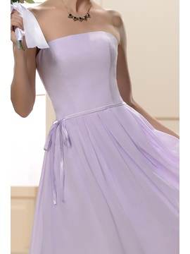 Designer Knee-Length Sashes/Ribbons Strapless Bridesmaid Dress