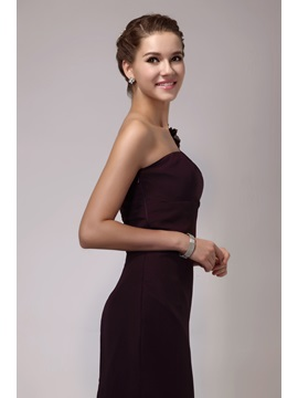 Hot Selling Short/Mini One-Shoulder Sheath Flowers Sandra's Bridesmaid Dress
