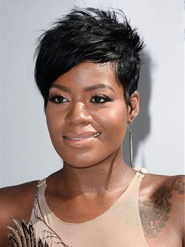 Short Straight Synthetic Hair Capless Wigs for Women