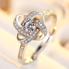 Exquisite Rhinestone Decorated Ring for Women