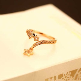 Cute Five-pointed Star Pendant Alloy Ring