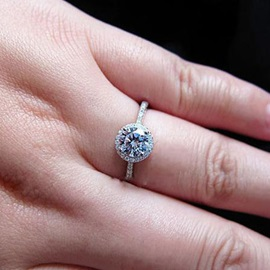 Shining 925 Sterling Silver Women's Engagement/Wedding Ring