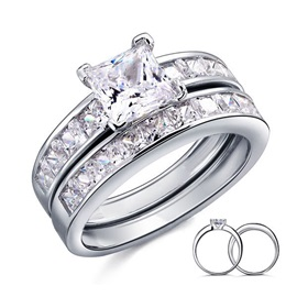 Simple Style 925 Sterling Silver Women's Wedding Ring