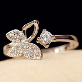 Elegant Butterfly Design Opening Ring
